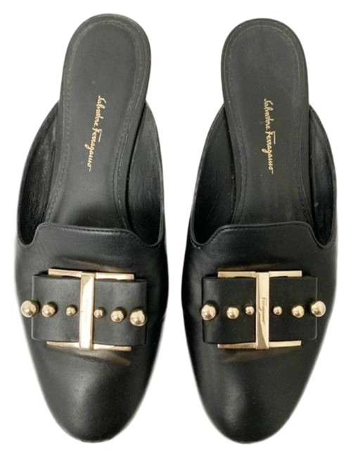 Item - Black Gold Sciacca Studded Bow Mules Flats Size US 10 Regular (M, B)