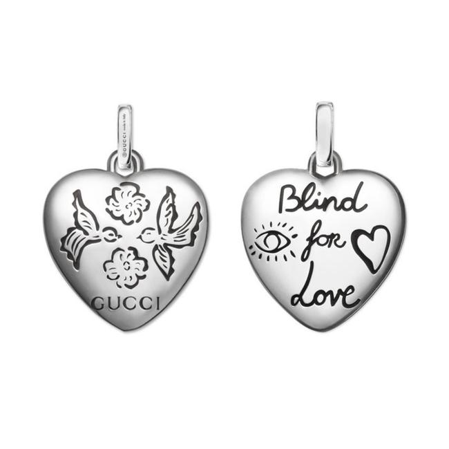 Item - Silver New Sterling Blind For Love Heart Charm/Pendant Charm