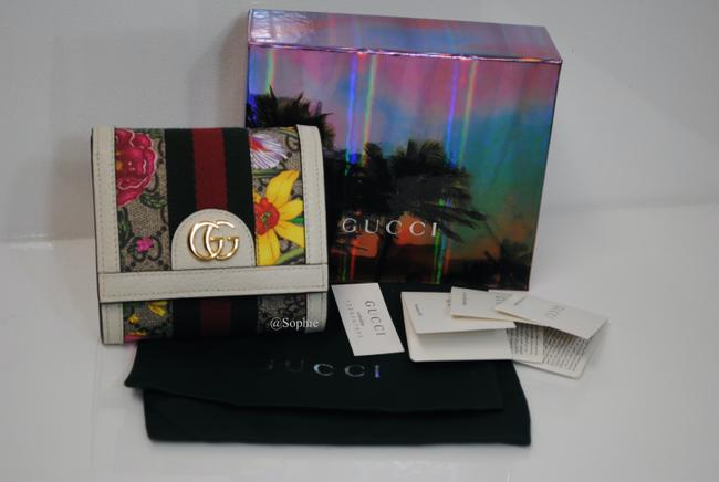 Gucci New Floral Summer Wallet Multicolor Gg Supreme Canvas Tote Gucci New Floral Summer Wallet Multicolor Gg Supreme Canvas Tote Image 3