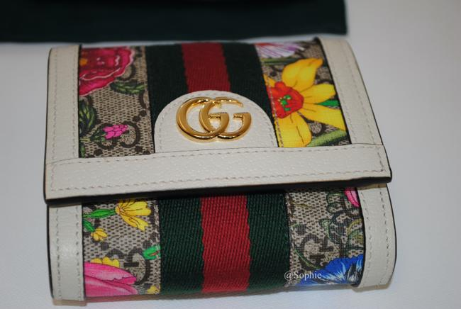 Gucci New Floral Summer Wallet Multicolor Gg Supreme Canvas Tote Gucci New Floral Summer Wallet Multicolor Gg Supreme Canvas Tote Image 5