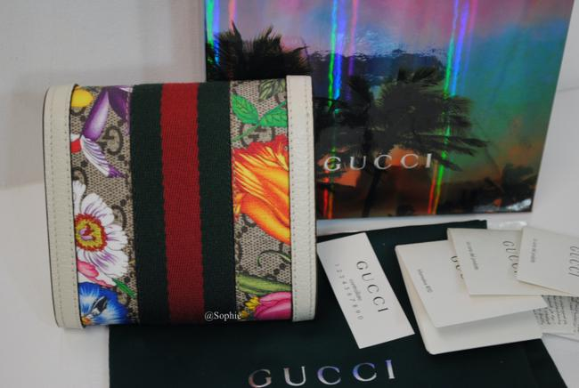 Gucci New Floral Summer Wallet Multicolor Gg Supreme Canvas Tote Gucci New Floral Summer Wallet Multicolor Gg Supreme Canvas Tote Image 6