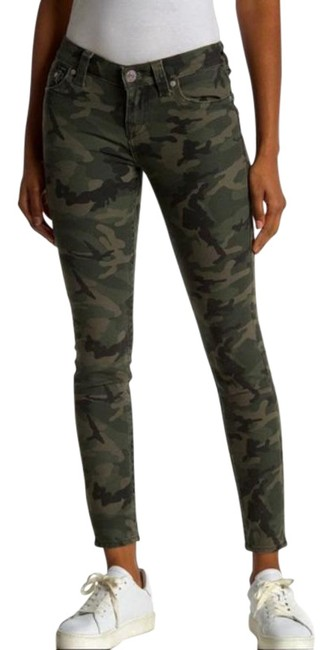 Item - Olive Green Camo Halle Mid Rise Pants Size 6 (S, 28)