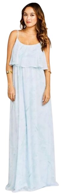 Item - Blue Green Caitlin Ruffle Maxi In Baby Babers Formal Dress Size 4 (S)