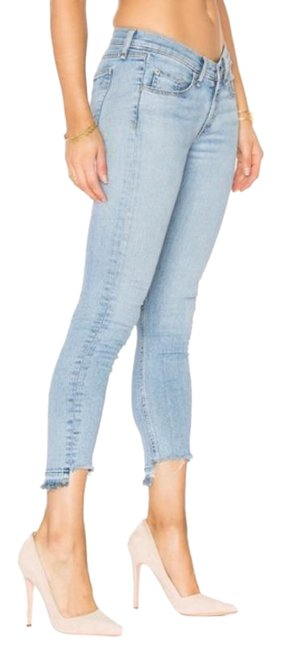 Item - Blue Distressed Skinny In Wiley Capri/Cropped Jeans Size 25 (2, XS)