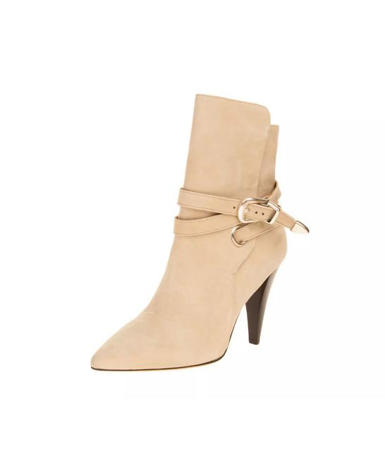 Item - Beige / Tan Iro- Tan/Beige Suede Leather Ankle Boots/Booties Size US 8.5 Regular (M, B)