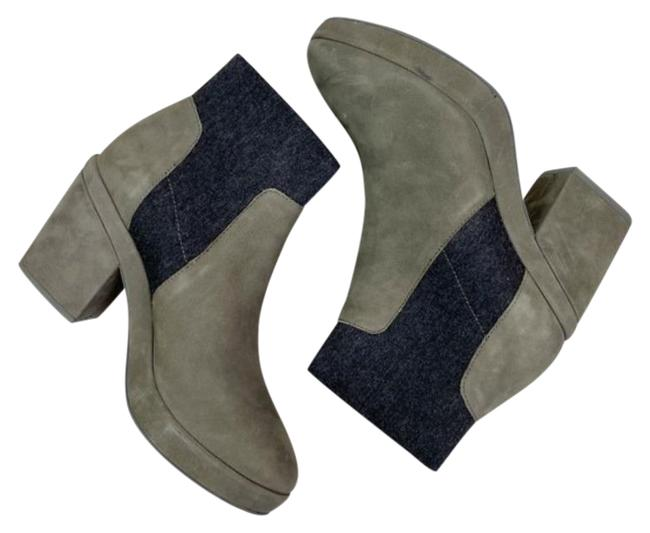 Item - Gray Black Later Woman New Boots/Booties Size US 6.5 Regular (M, B)