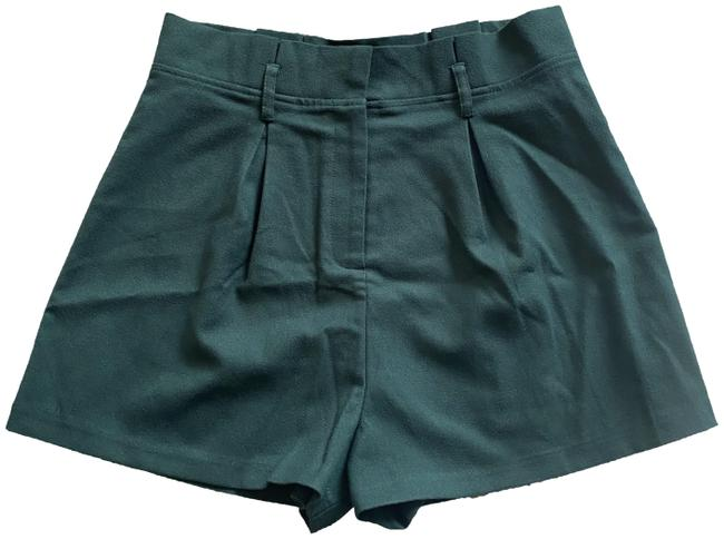Item - Dark Green L Forever-21-contemporary Knit Paperbag Polyester Rayon Blend Shorts Size 12 (L, 32, 33)