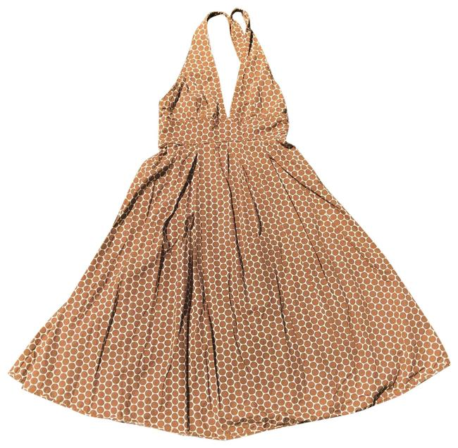 Item - Brown Dots Halter Mid-length Casual Maxi Dress Size 0 (XS)