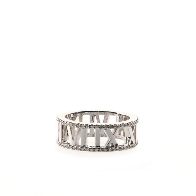Item - 18k White Gold Atlas Open and Diamonds 7mm 5 Ring