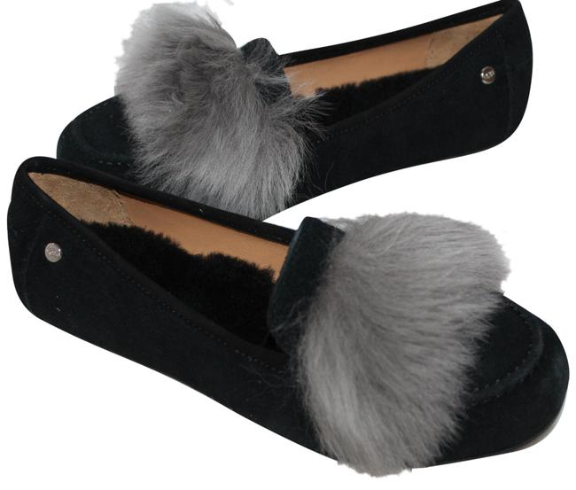 Item - Black Gray Kaley Wisp Fluff Shearling Loafer Slippers Flats Size US 7 Regular (M, B)