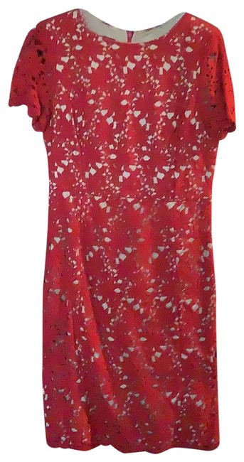 Item - Red Pretty Short Casual Dress Size 6 (S)