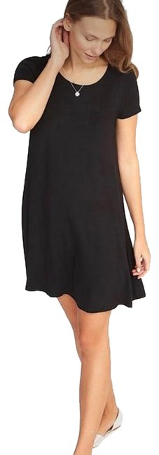 Item - Black Jersey Knit Swing Short Casual Dress Size 4 (S)