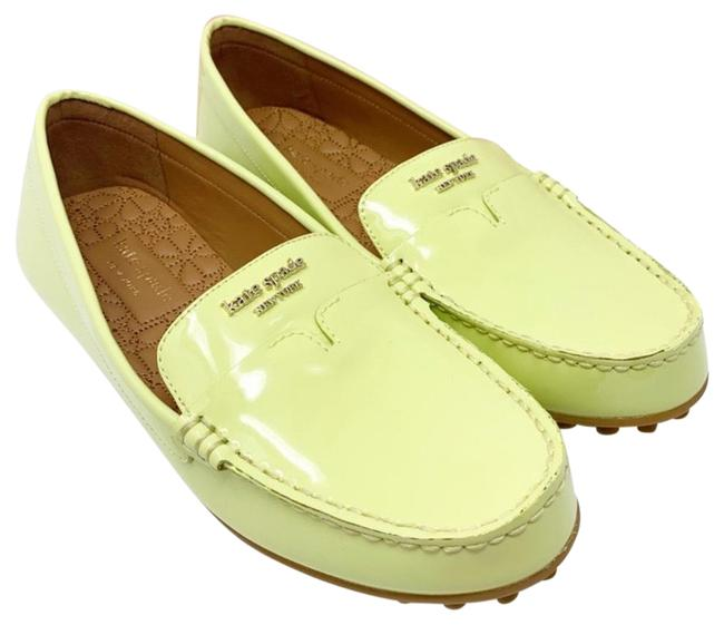 Item - Yellow Deck Patent Leather Moccasin Loafer Flats Size US 7.5 Regular (M, B)