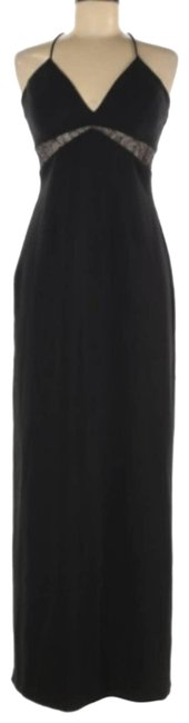 Item - Black Strappy Maxi Gown Long Formal Dress Size 6 (S)