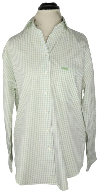 Item - Green Gingham Shirt Button-down Top Size 8 (M)