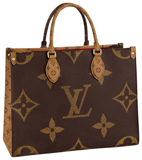Item - Onthego Mm Brown Monogram Canvas and Monogram Reverse Canvas Shoulder Bag