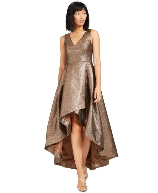 Item - Copper Metallic High-low Ball Gown Long Formal Dress Size 12 (L)