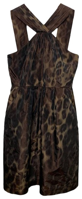 Item - Brown Cheetah Print Cocktail Short Night Out Dress Size 0 (XS)