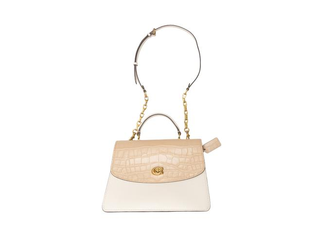Item - Flap Bag Cream Suede White & Beige Leather Clutch