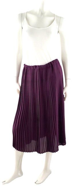 Item - Eggplant Burgundy Pleated Long Skirt Size 6 (S, 28)