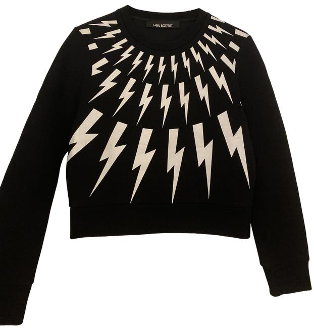 Item - Lightning Embroidered Black and White Sweater