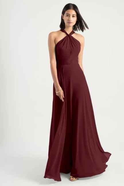 Item - Hibiscus Burgundy Collection Halle Halter Evening Modern Bridesmaid/Mob Dress Size 0 (XS)