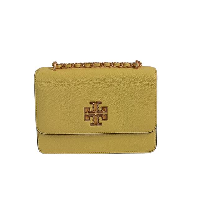 Item - Britten Small Adjustable Strap New Yellow Leather Cross Body Bag