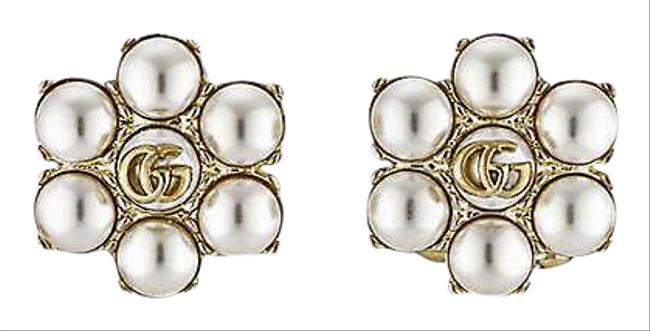 Item - Gold Marmont Gg Faux-pearl Earrings