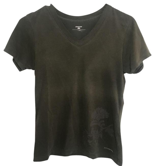 Item - Green XS Womens Olive V-neck Tee Shirt Size 2 (XS)