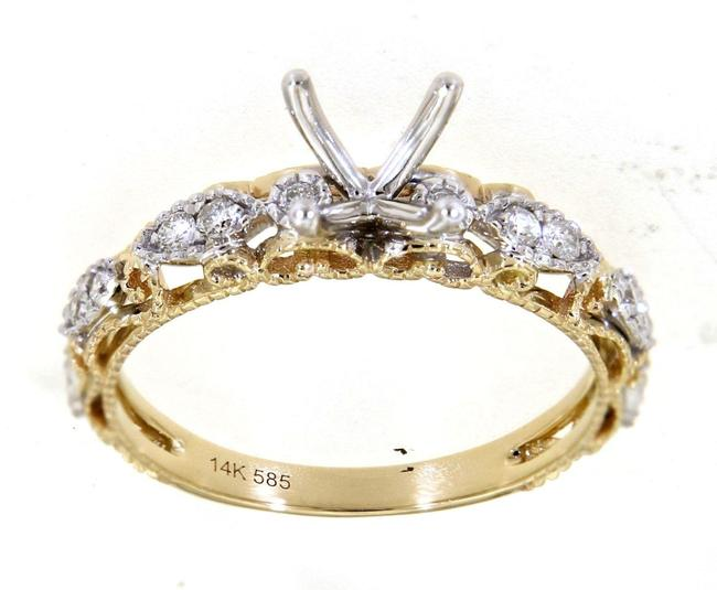Item - Multi Tone Gold Marquise Style Engagement Ring