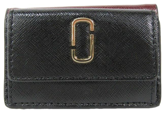 Item - Black / Bordeaux / Red Color Snapshot Mini Trifold M0013597 Women's Coated Leather (Tri-fold) Wallet
