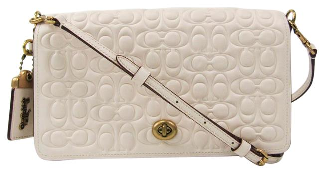 Item - Dinky Signature 30427 Women's Off-white Leather Shoulder Bag