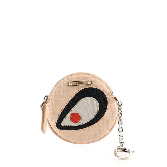Item - Pink Print Monster Eye Round Coin Purse Keychain Leather
