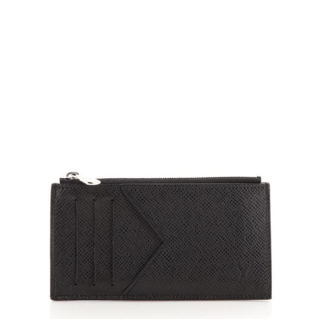 Item - Black Coin Card Holder Taiga Leather Wallet