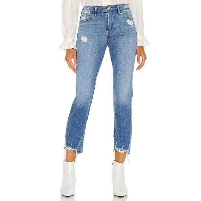 Item - Blue Distressed New High In Laskey Rips Straight Leg Jeans Size 30 (6, M)