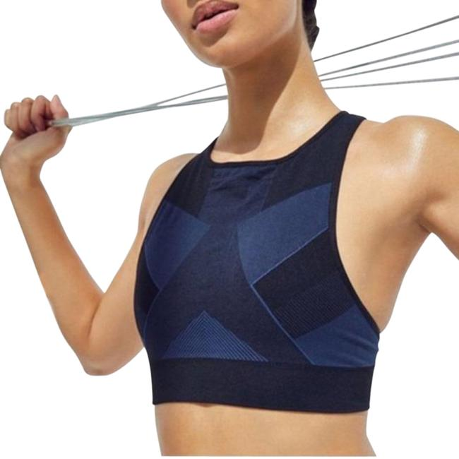 Item - Black Blue Score Navy Combination Medium Activewear Sports Bra Size 10 (M, 31)
