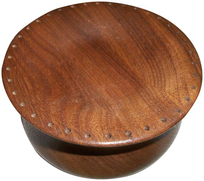 Item - Brown One Of A Kind Earrings Holder/Display Wood Bowl Signed