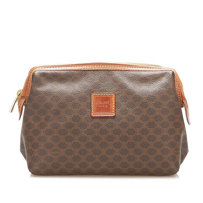 Item - Macadam Pouch Brown Leather Wristlet