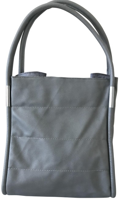 Item - Pebbled Gray Faux Leather Tote