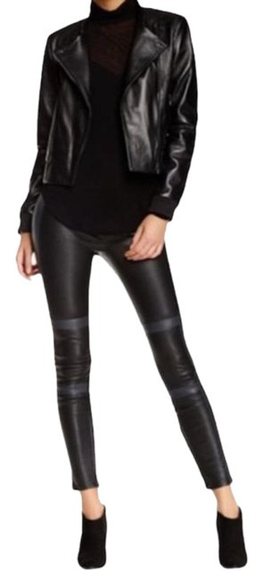 Item - Black Gray Irina Lamb Leather Pants Size 2 (XS, 26)