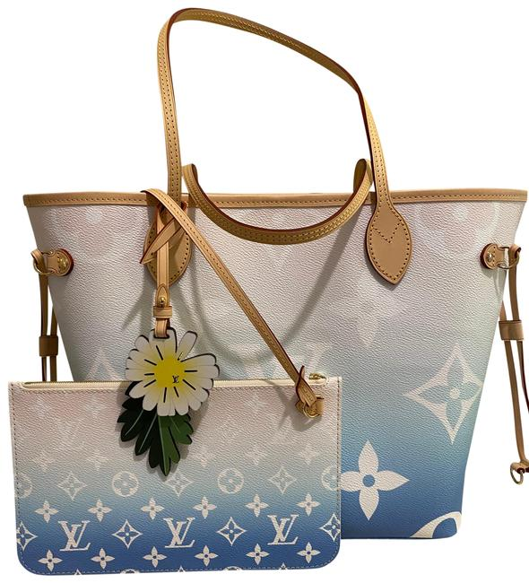 Item - Neverfull Mm Blue Canvas Tote