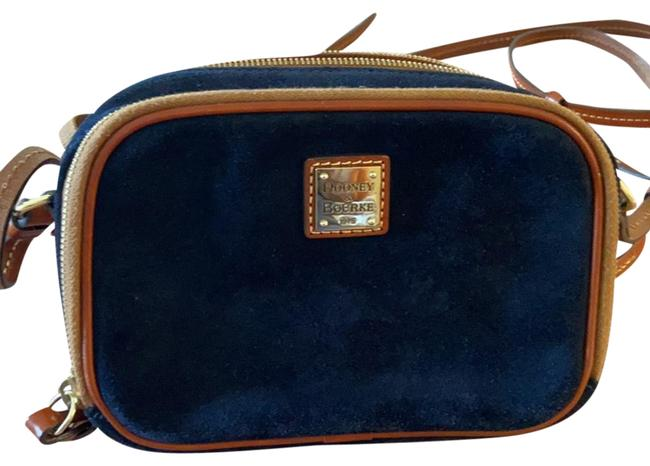 Item - Crossbody Sawyer Navy Trimmed with Tan Leather Suede Backpack