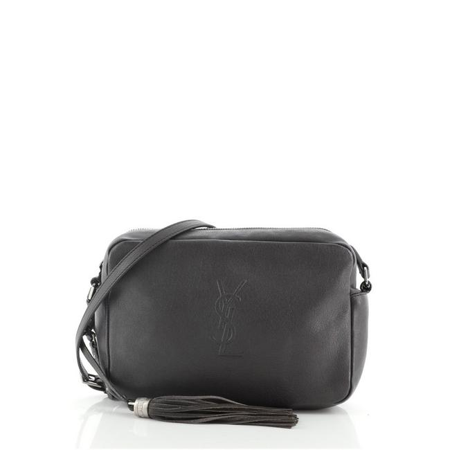 Item - Camera Lou Small Gray Leather Shoulder Bag