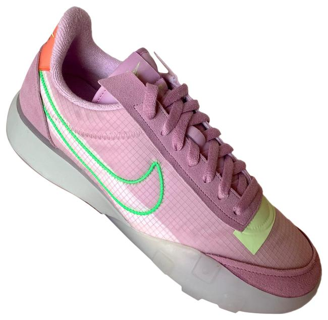 Item - Light Arctic Pink/Grey Fog/Barely Volt/Poison Green Waffle Racer 2x Sneakers Size US 12 Regular (M, B)