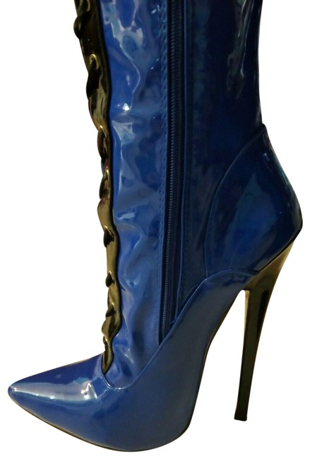 Item - Blue 13 Lady/10 Men Fetish Thigh High/Over The Knee Stiletto Boots/Booties Size EU 44 (Approx. US 14) Regular (M, B)