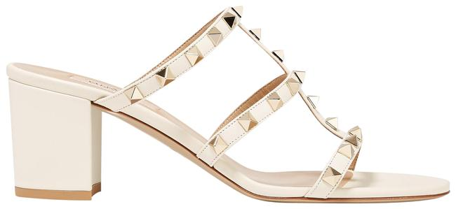 Item - Ivory Garavani The Rockstud 60 Leather Mules/Slides Size EU 41 (Approx. US 11) Regular (M, B)