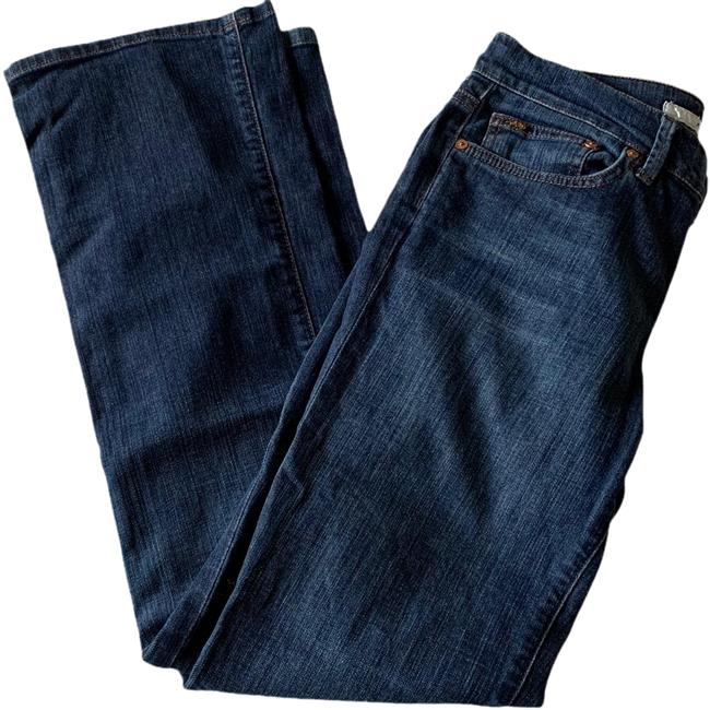 Item - Kennedy (Blue; Dark Wash) Rinse Provocateur Mid-rise Stretch In Boot Cut Jeans Size 6 (S, 28)