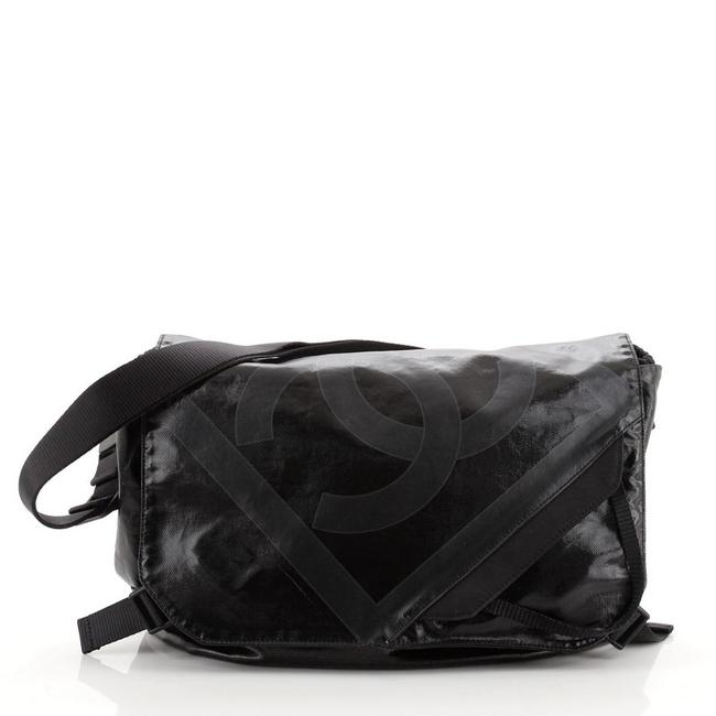 Item - Sport Line Coated Medium Black Canvas Messenger Bag