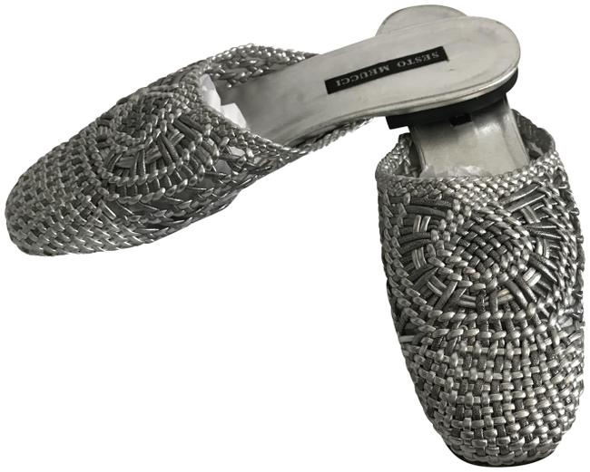 Item - Silver Mules/Slides Size US 9 Narrow (Aa, N)