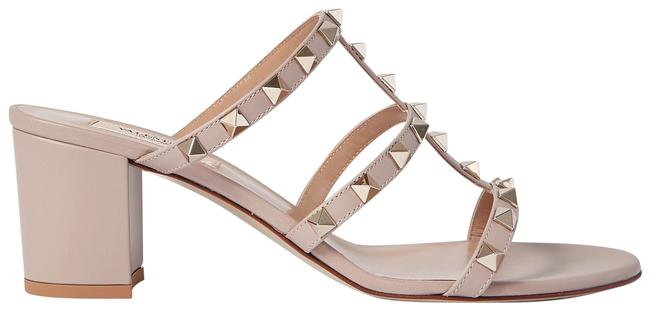 Item - Neutral Garavani Rockstud 60 Leather Mules/Slides Size EU 37.5 (Approx. US 7.5) Regular (M, B)
